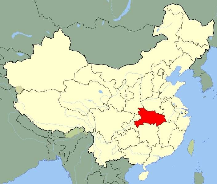 """Hubei (Chinese: 湖北) is situated  """"north of the lake"""", referring to the Lake Dongting. The provincial capital is Wuhans which is the most populous city in Central China. it is often called as a """"Land of Fish and Rice"""" due to its most important agriculture products."""
