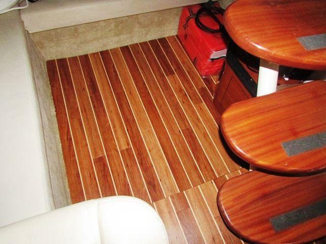 340 Searay With Teak Holly Interior Floor Flooring Interior