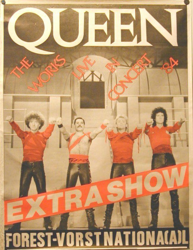 Queen Advertisement 1984 Queen Poster Concert Posters Music Concert Posters