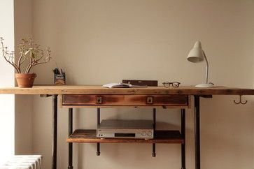 Modern Standing Desk Reclaimed Wood Stand Up Furniture New