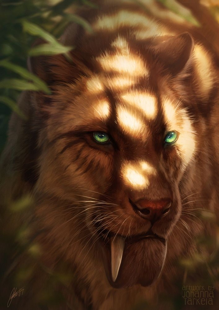 deviantart sun sabertooth animals lhuin prehistoric dappled cats tiger cat creatures extinct fantasy deviant furry grins toothy tamberella inspirations sunlight