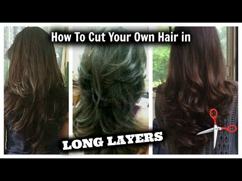 How I Cut Layers In My Hair At Home Haircuts Styles