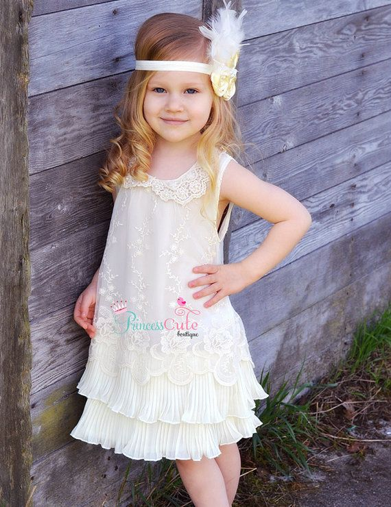 Flower girl dress ivory flower girl dress girls lace dress lace ...