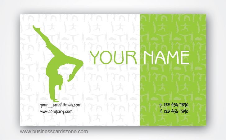 Free yoga teacher business cards design free business cards free yoga teacher business cards design reheart Image collections