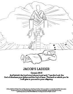 Genesis 28 Jacobs Ladder Sunday School Coloring Pages Your Kids