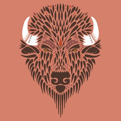 I love this vector image of a Bison. I grew up near Bucknell