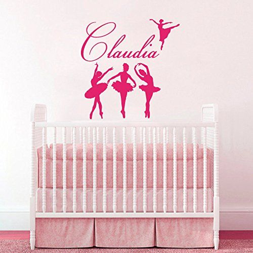Wall Decals Little Girls Custom Personalized Name Ballerina Girl - Custom vinyl wall decals dance