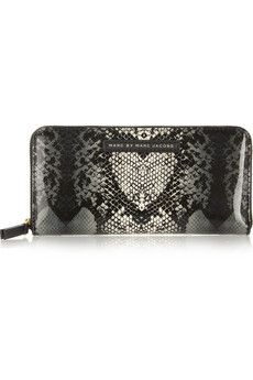 MARC BY MARC JACOBS Snake Heart PVC continental wallet €135