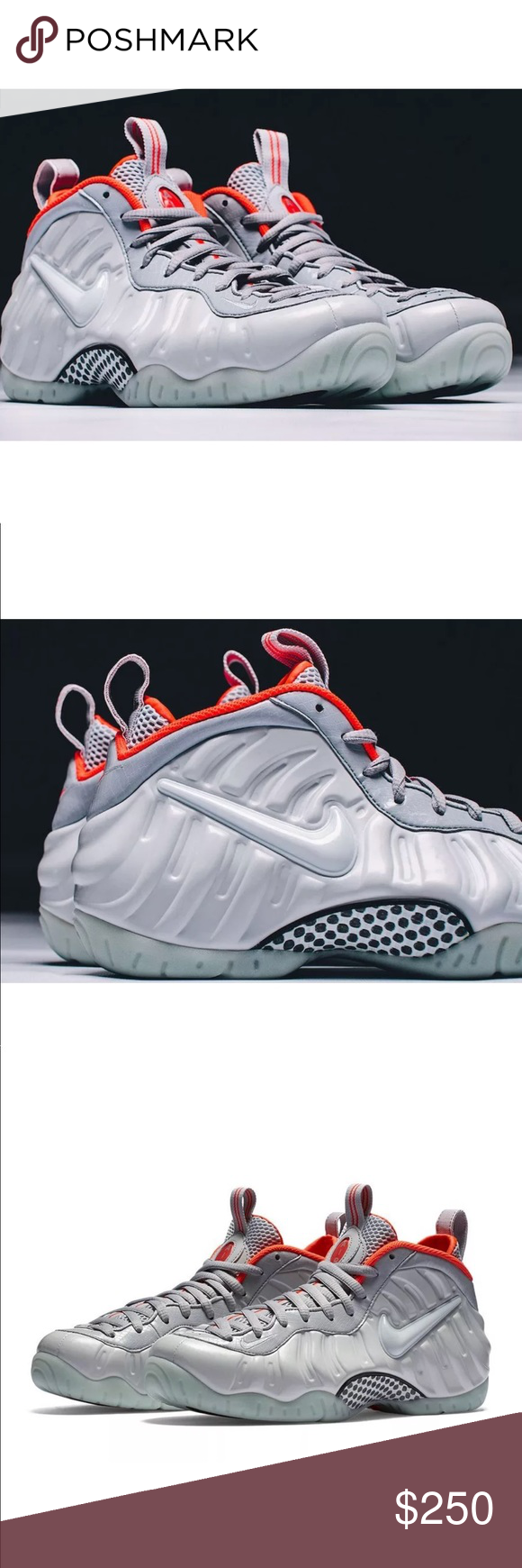 new styles 30a2f 9ba35 Nike Air Foamposite Pro PRM Yeezy PLATINUM Wolf Grey Size 8.5 Excellent  Condition Like New - Worn Once Rare! Nike Shoes Sneakers