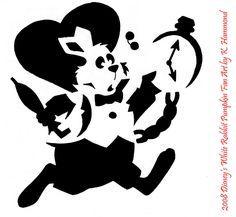 White Rabbit Pumpkin Pattern By Jadewik On Deviantart