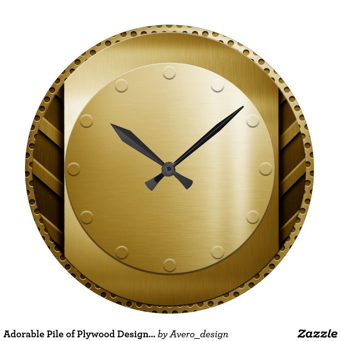Adorable Pile of Plywood Design Wall Clock | fuTURISTic wALL clOcK ...