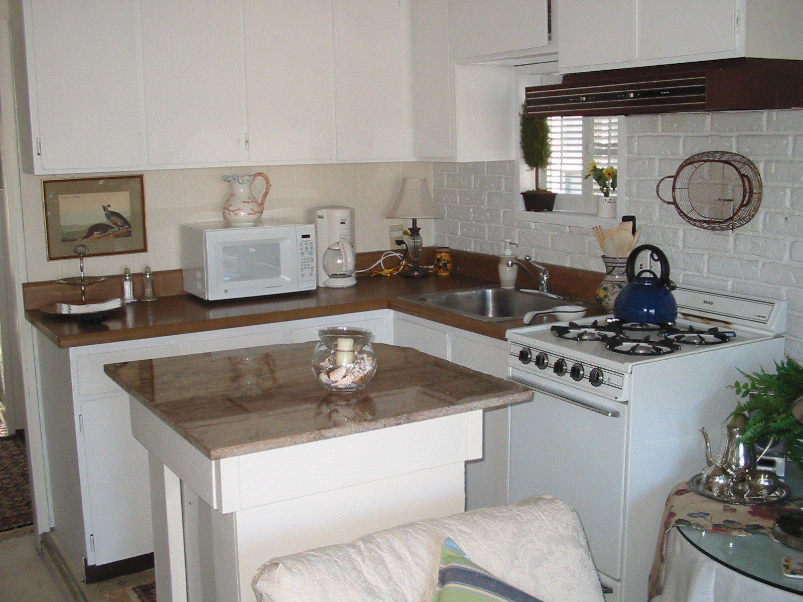 Sausalito houseboat kitchen