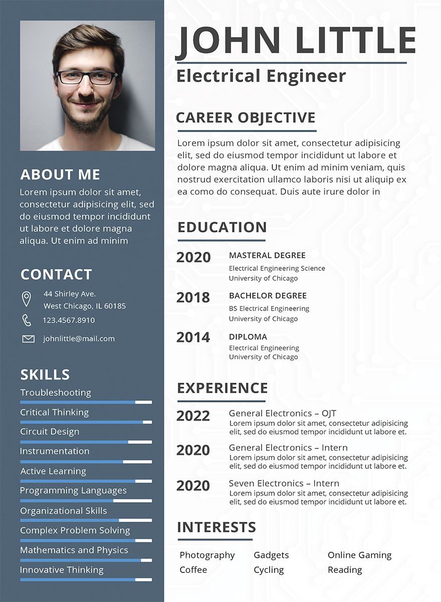 Electrical Engineer Resume Sample Resume design free