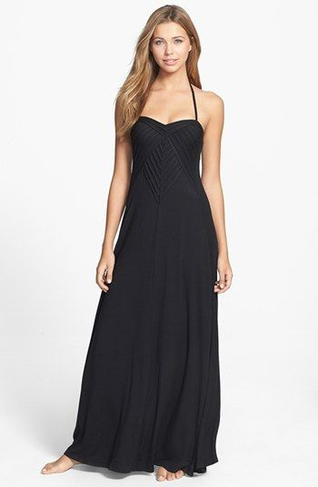690217bfc6501 Robin Piccone 'Karina' Pleat Cover-Up Maxi Dress available at #Nordstrom