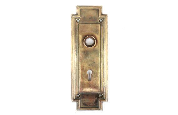 7.5\  Art-Deco Door Plate/Salvage Antique Door Back Plate/Vintage Hardware  sc 1 st  Pinterest & 7.5\