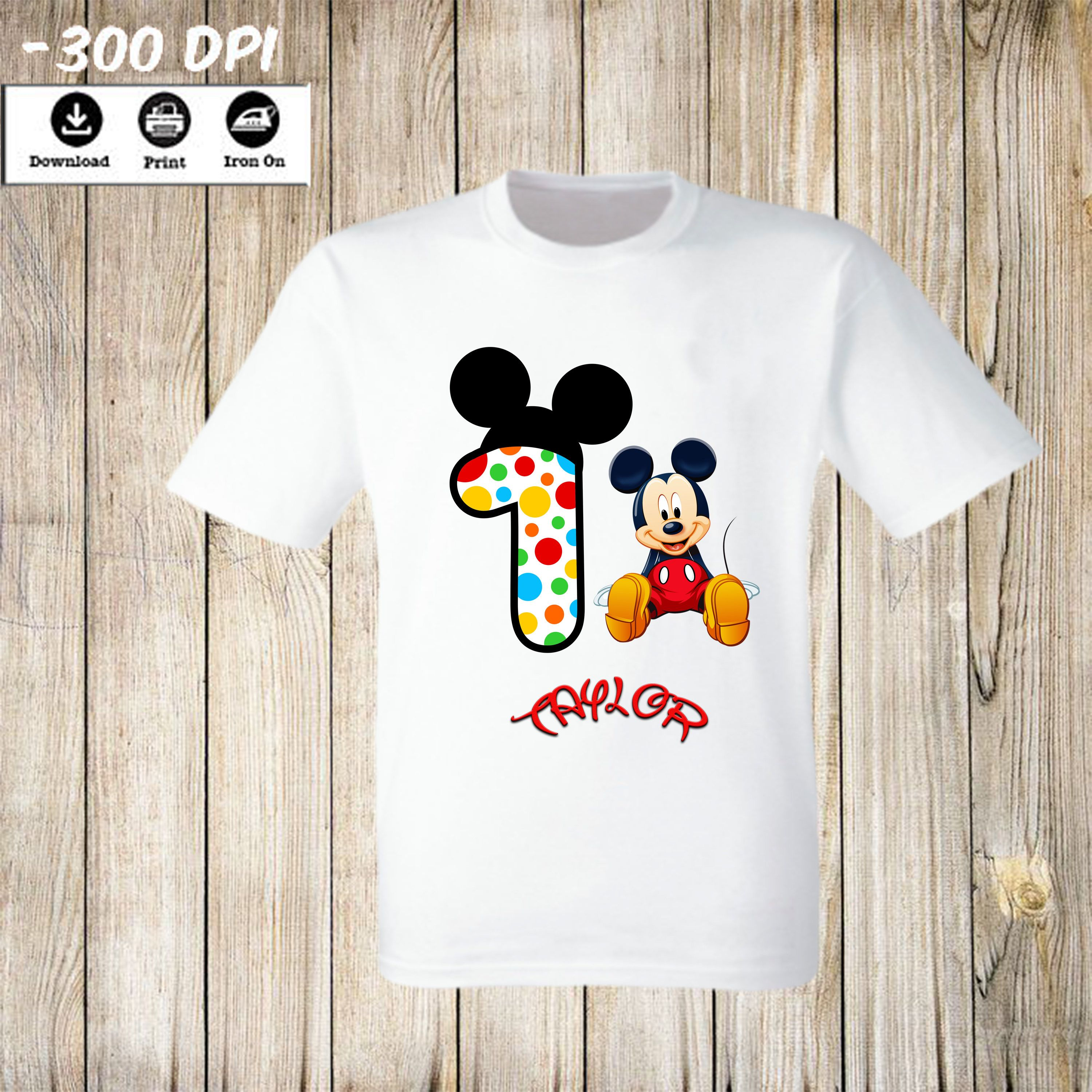 MICKEY MOUSE IRON ON T SHIRT TRANSFERS