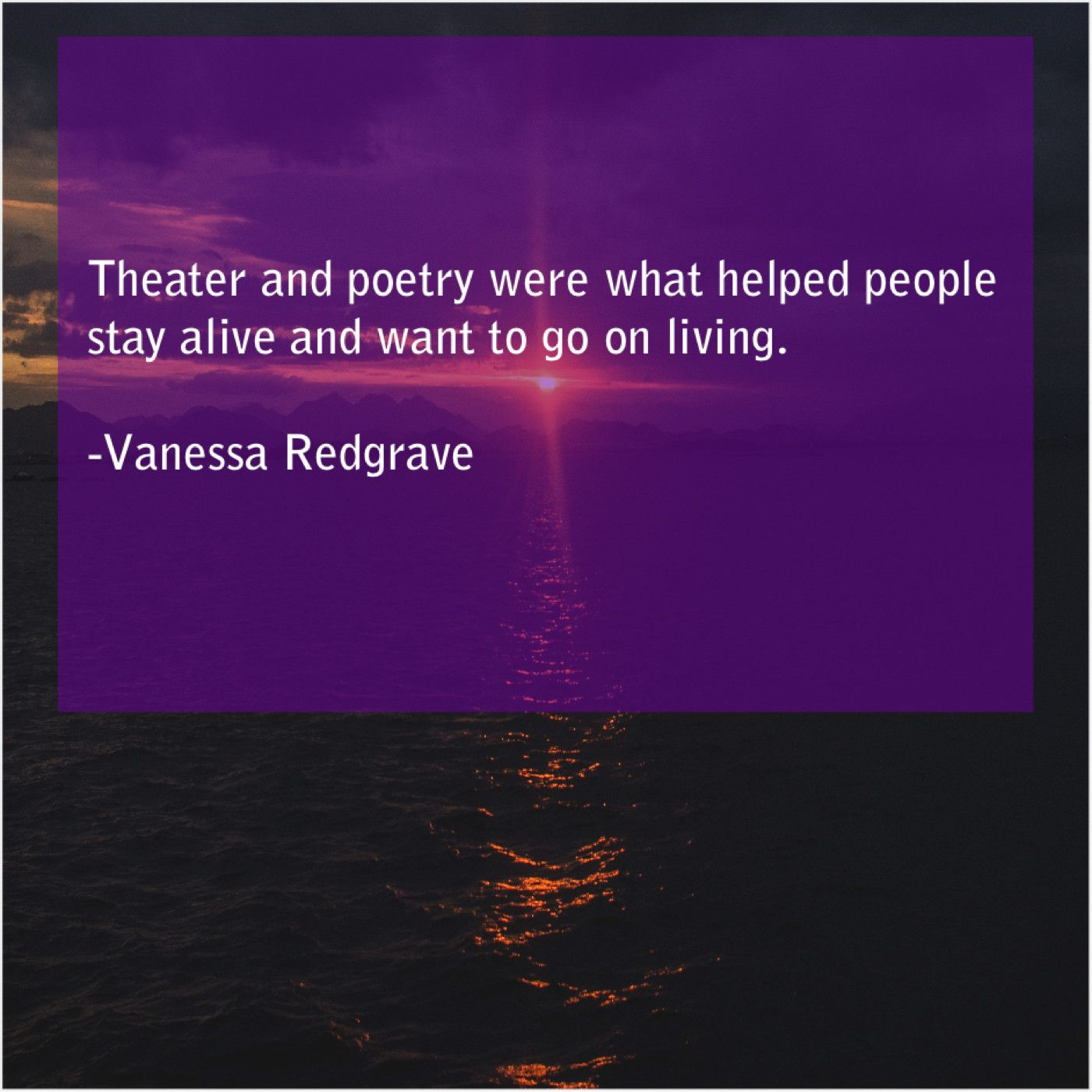 Vanessa Redgrave Theater And Poetry Were What Vanessa Redgrave Poetry Vanessa