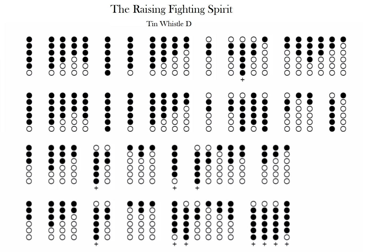 The Rising Fighting Spirit Naruto Tin Whistle D Tab