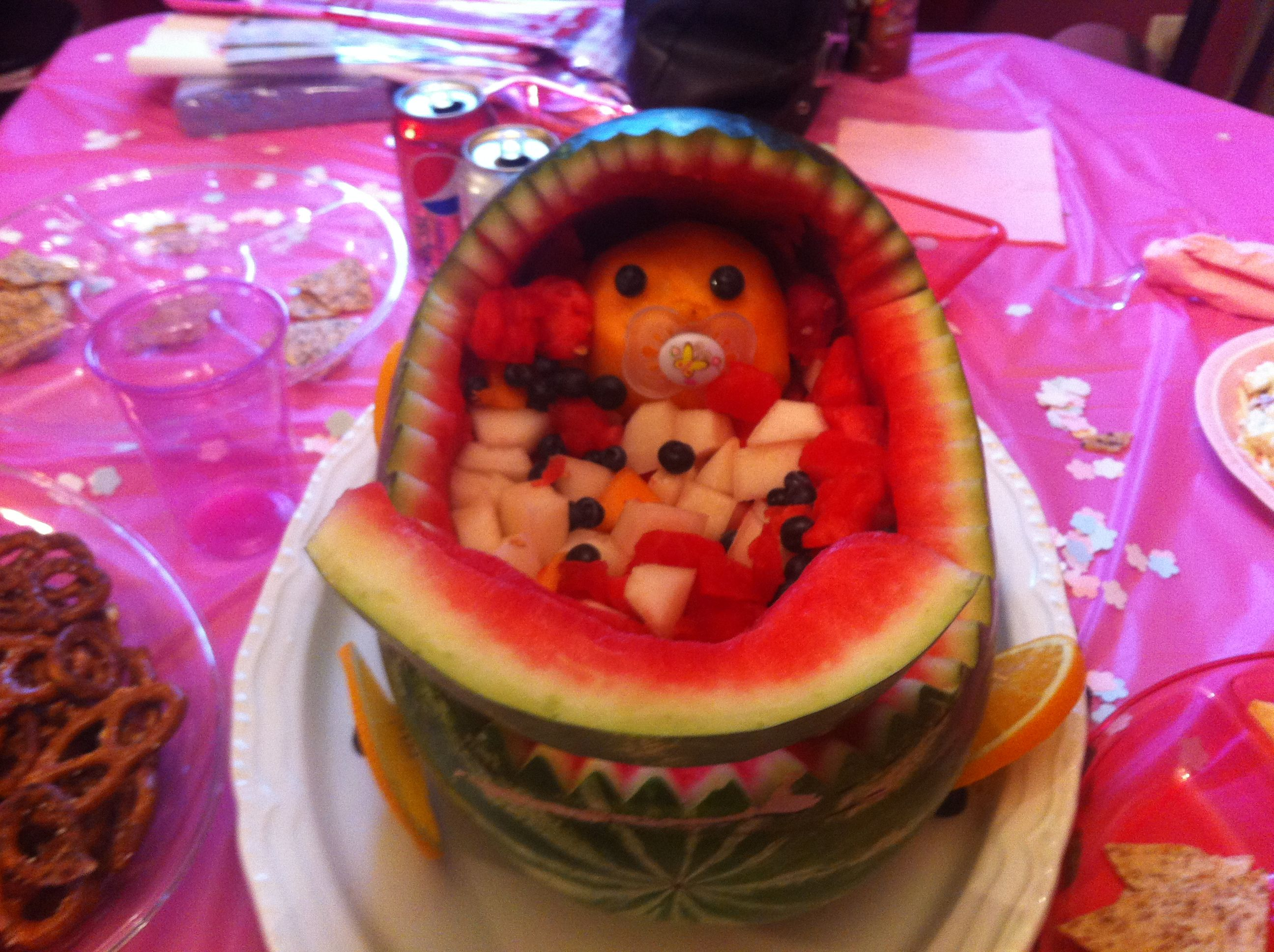 Watermelon Baby Carriage Fruit Salad Great For A Baby Shower