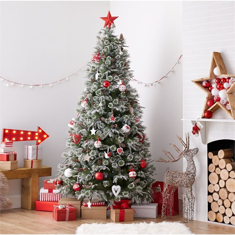 Find 7ft Emperor Snowy Artificial Christmas Tree At Homebase Visit Your Local Store For The Widest Ra Christmas Tree Real Christmas Tree Christmas Tree Themes