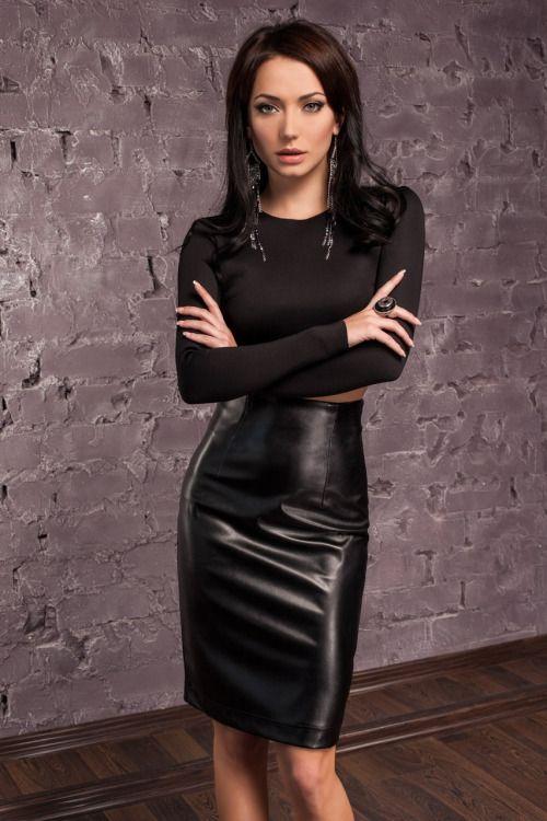 Gorgeous black leather skirt | Leather Dresses | Pinterest ...