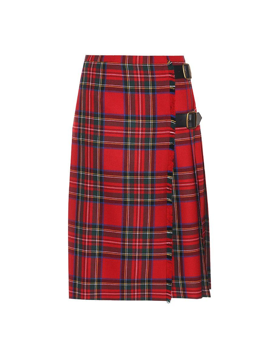 e8fdab49f771 BURBERRY Check wool skirt in 2019