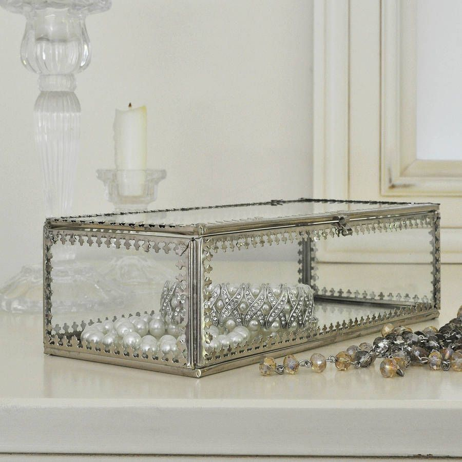 Glass Jewellery Box displays Pinterest Glass jewellery box