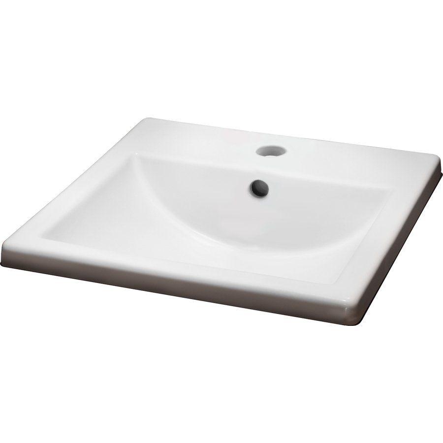 American Standard Marquette White Drop-in Rectangular Bathroom Sink ...