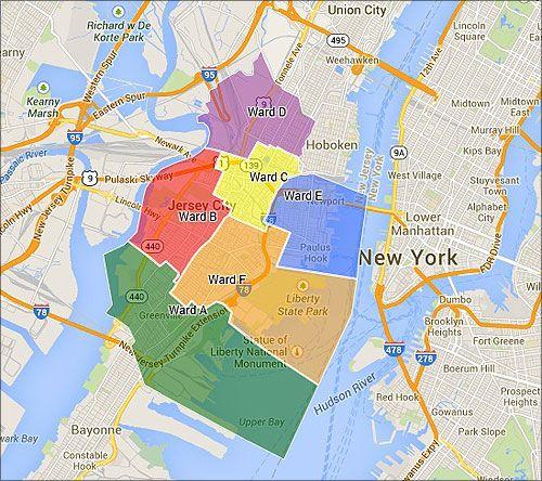 Jersey City Ward Map ward map jersey city | Jersey City | Jersey city, Map, City