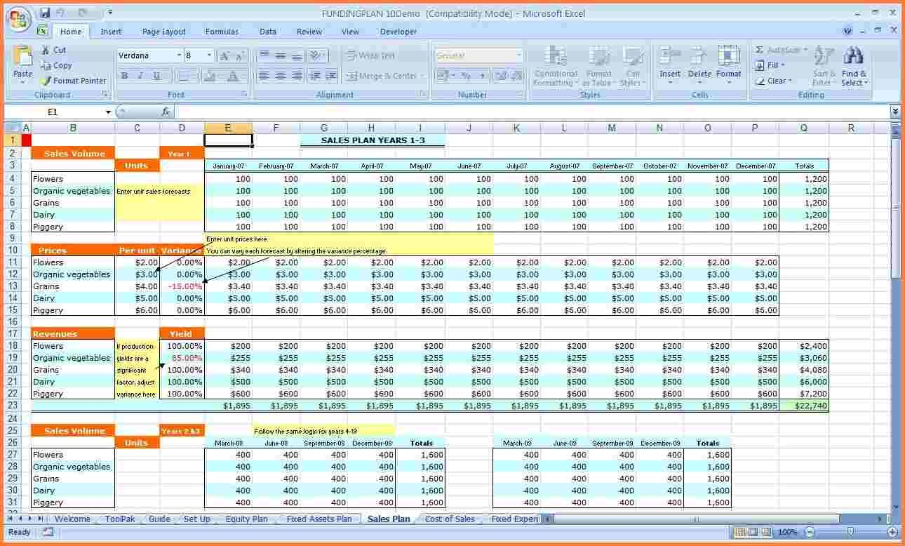 Business Plan Spreadsheet Template Excel Expense For Taxes
