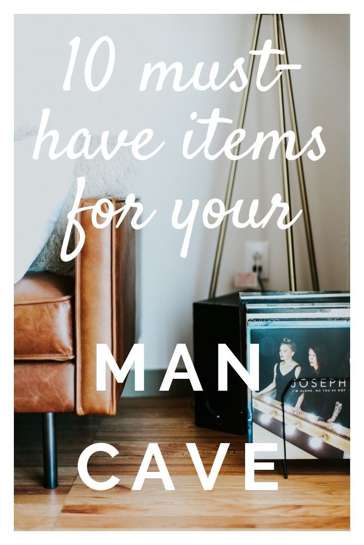 Check out my favorite furniture and accessory items for your man cave or bachelor pad!
