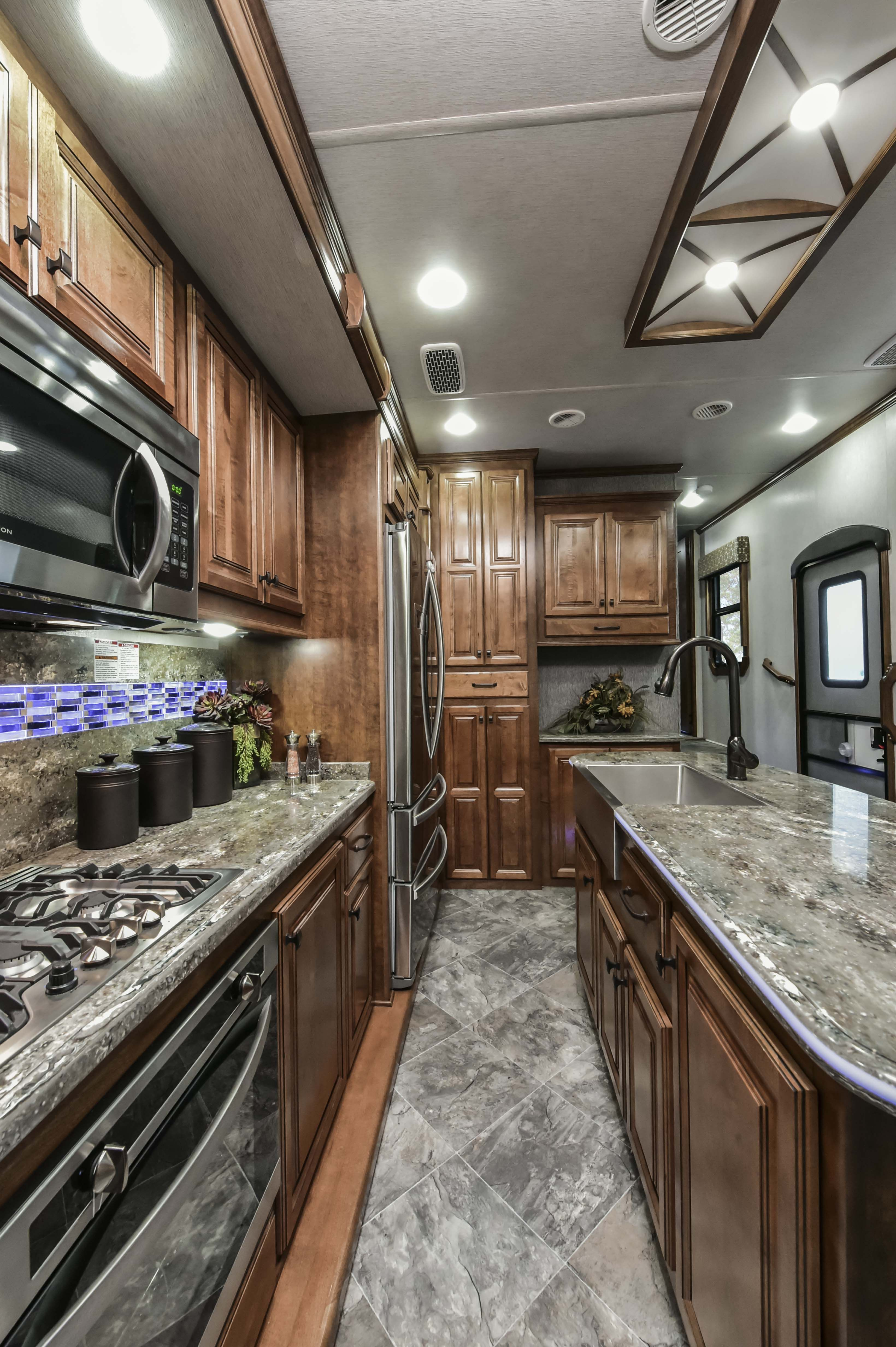 2018 Landmark 365 Charleston Luxury Full Time 5th Wheel Rv Kitchen
