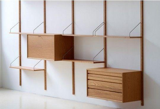 Bibliotheque Modulable Royal Systeme Caisson Bar Secretaire Bibliotheque Modulable Idees Etageres Mobilier De Salon