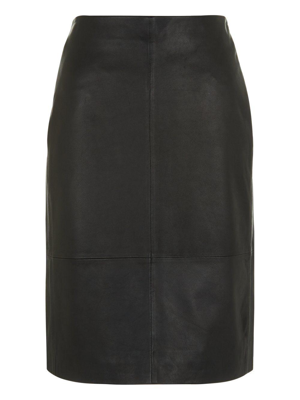 7726aa9df Yates Black Leather Pencil Skirt #Muubaa #AW15   Fashion   Black ...
