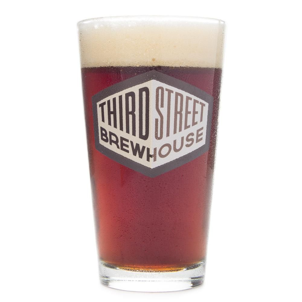 Shaker Pint glass with the Third Street logo printed on front. Third Street Brewhouse in Cold Spring, Minnesota produces unique brews right in Central, Minnesota. This logo pint is an excellent choice for fans of Third Street Brewhouse and their Lost Trout Brown, Sugar Shack or other fine beers.