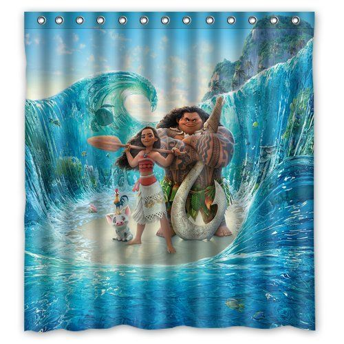 Disney S Moana Cool Movie Tie In Costumes Clothes Decor More Shower Curtain Decor Moana Movie Shower Curtain