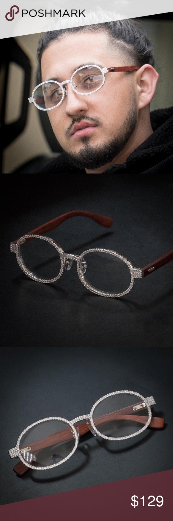 2d15645b7fdd Men s Silver Clear Lens Wood Frame Glasses Men s Silver Clear Lens Wood Frame  Glasses Plating  White Gold Frame Material  Wood Brass Lens Width  49mm  Lens ...
