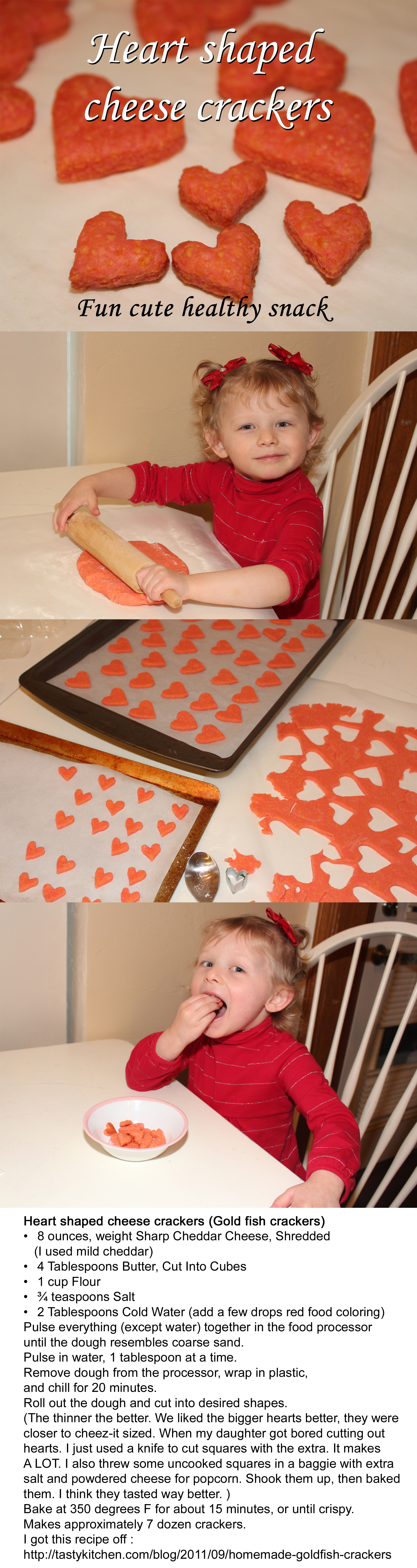 Fun Cute Valentines Snack Heart Shaped Goldfish Crackers