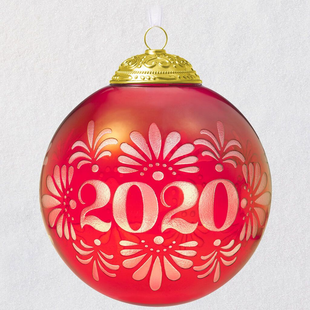 2020 Christmas Commemorative Glass Ball Ornament in 2020