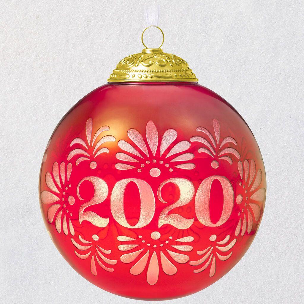 2020 Christmas Commemorative Glass Ball Ornament in 2020
