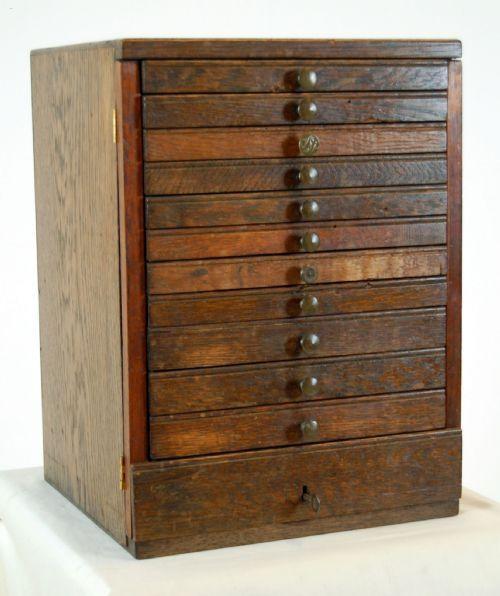 Antique Specimen Cabinet
