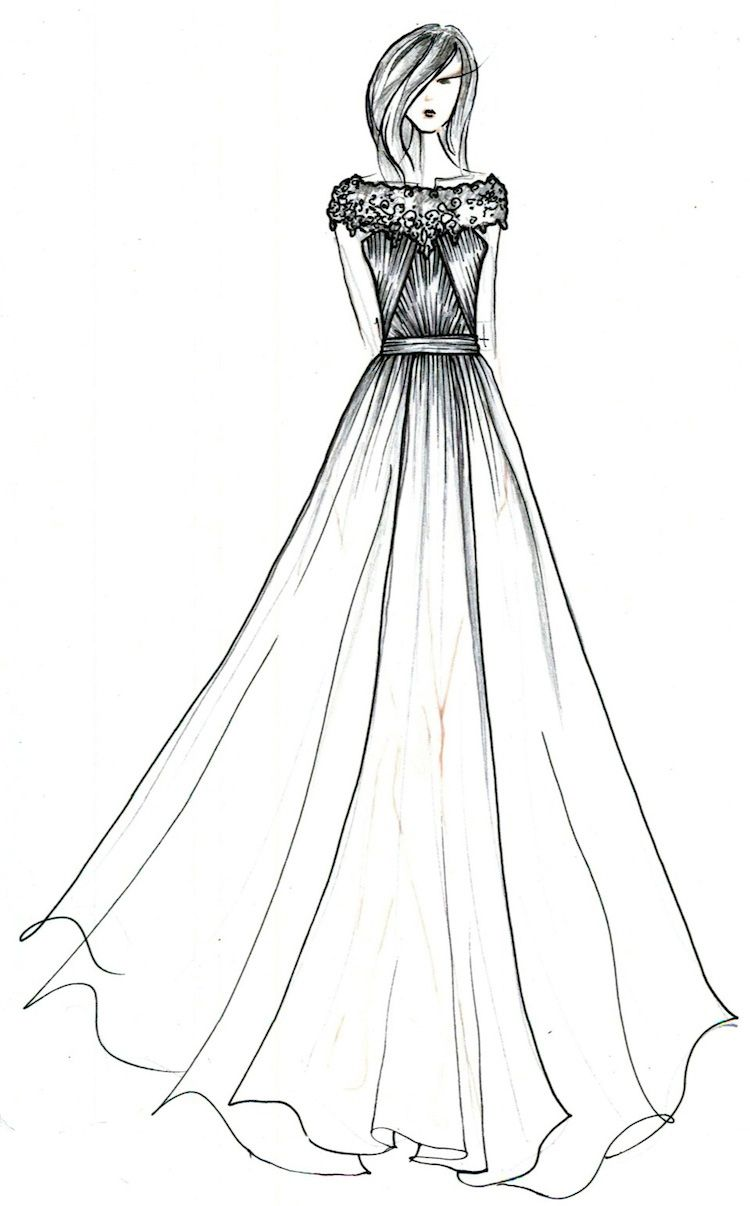 Easy Fashion Drawings With Images Fashion Sketches Dresses Dress Sketches Dress Design Sketches