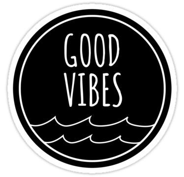 Good Vibes Sticker By Livelycoastin In 2021 Black And White Stickers Black Stickers Good Vibes