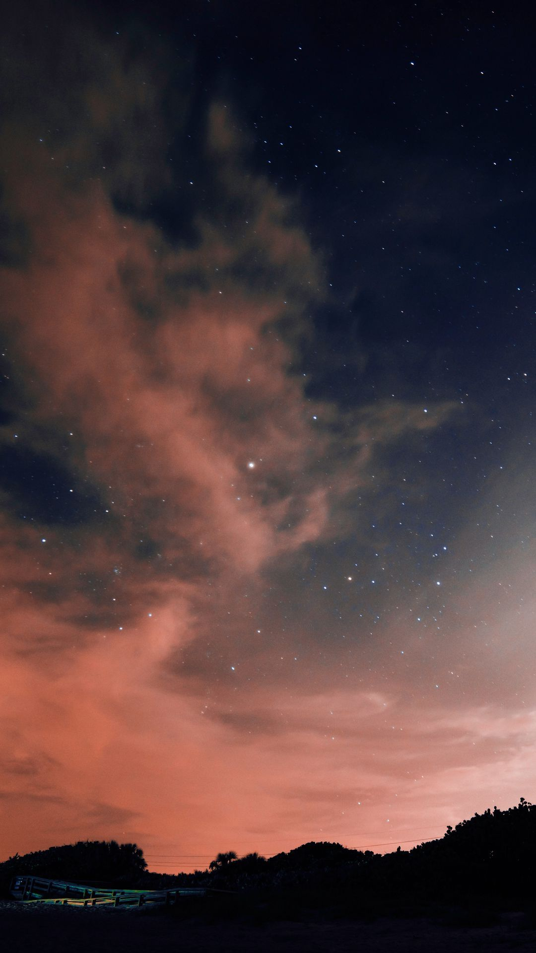 Download wallpaper 1080x1920 night, sky, stars, clouds samsung galaxy s4, s5, note, sony xperia z, z1, z2, z3, htc one, lenovo vibe hd background