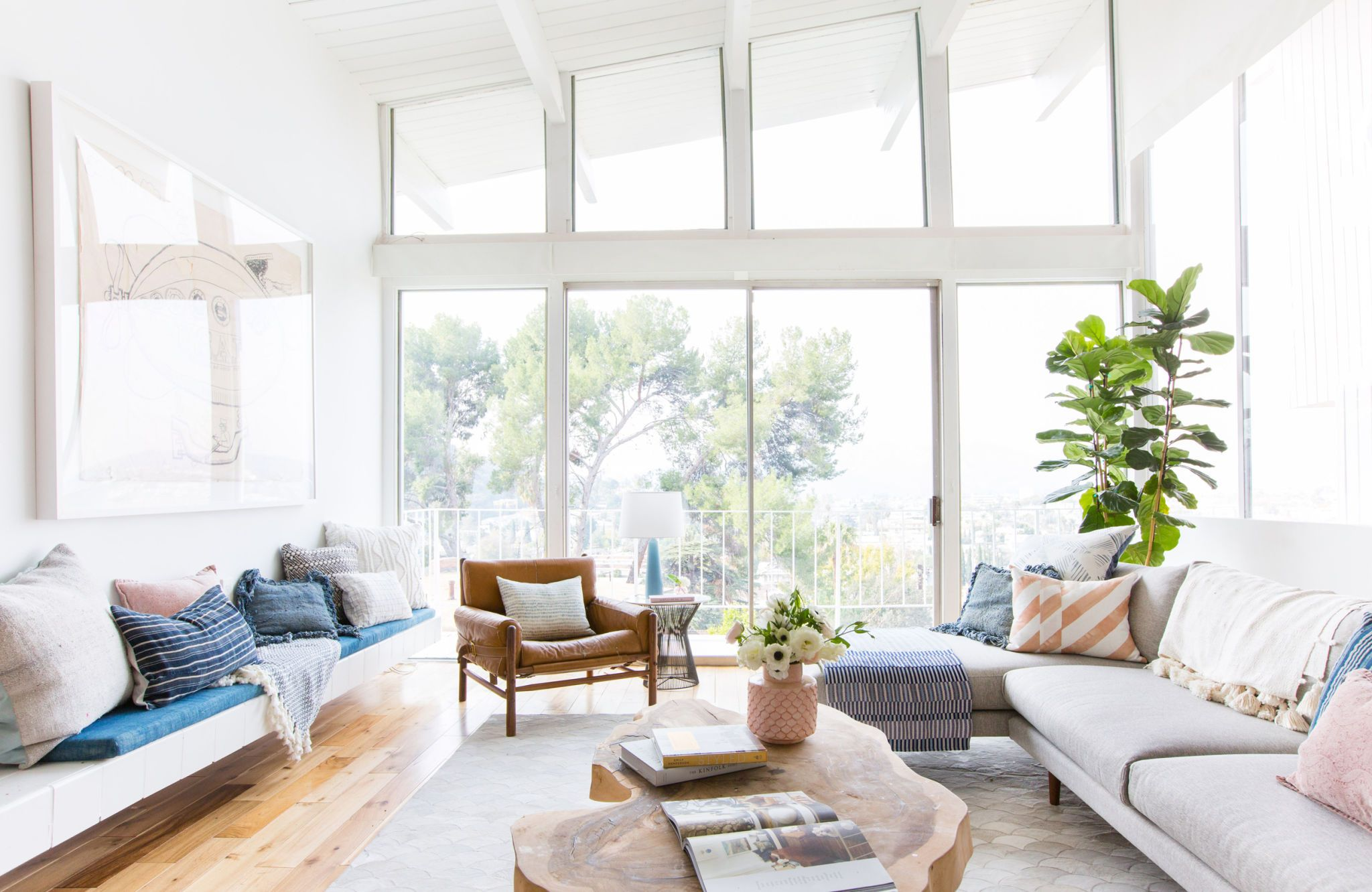 How we styled our living room to sell | Living rooms, Mid century ...