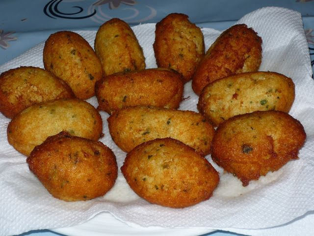 With Chocolate Brown: Pastéis de Bacalhau