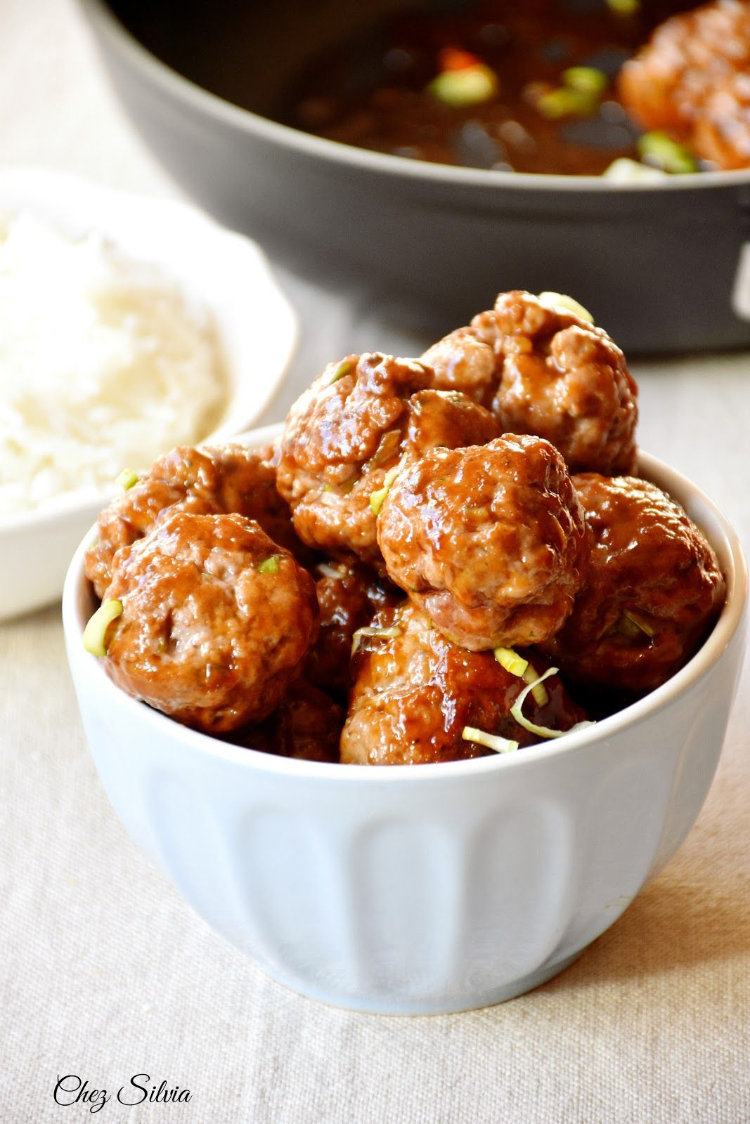 wok con albóndigas a la vietnamita. Le creuset