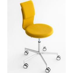 Photo of Lapalma Lab S70 office chair white lacquered fabric Kvadrat Divina Md (color of your choice in the comment field