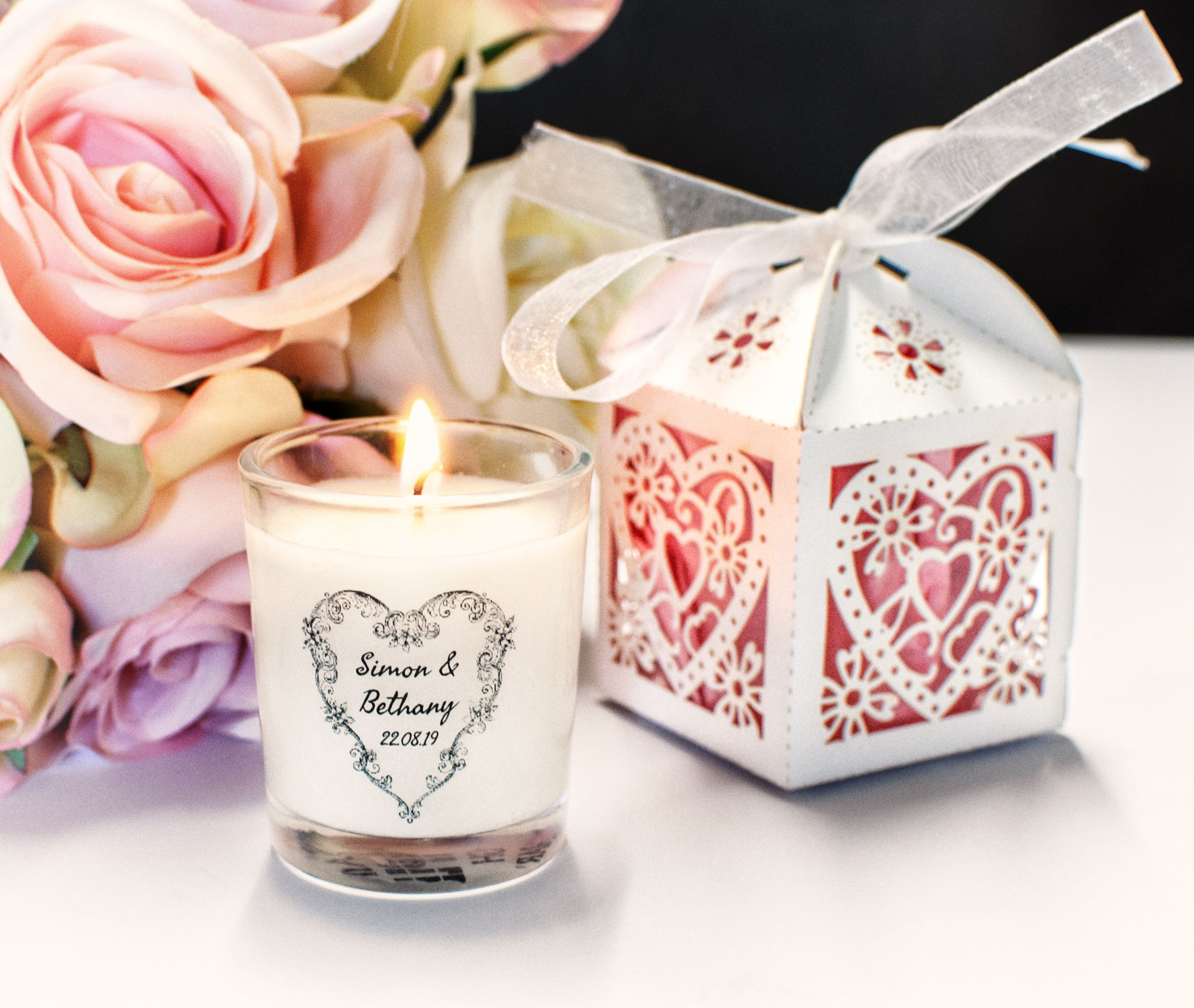 Vintage Wedding Favour Candles
