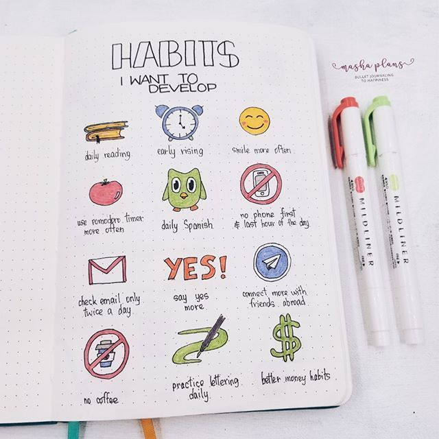The Ultimate Guide To Bullet Journal Habit Trackers